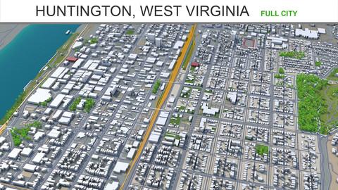 Huntington city West Virginia 3d model 30km