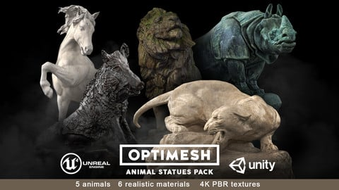 Animal Statues Pack