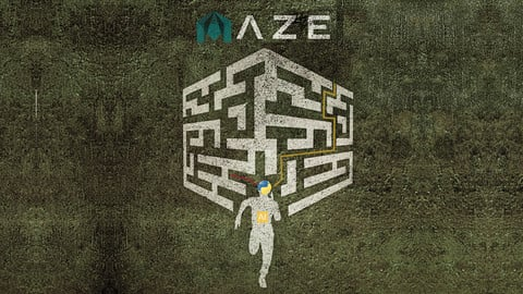 Autodesk Maya Maze Game with Artificial Intelligence