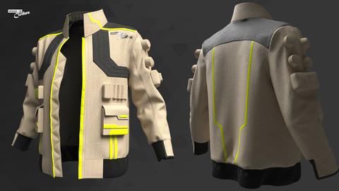 Sci-Fi Male Jacket - 54 Marvelous Designer and Clo3D