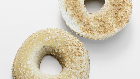 Sesame Seed Bagel - 3D Scanned Model (Free Download Link)