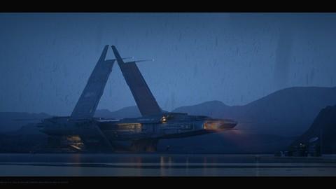 Spaceship | Octane Render scene