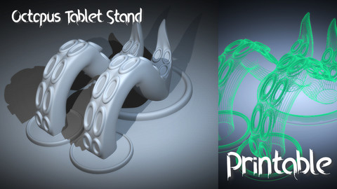 🐙 3D Printable Octopus Tablet/Phone Stand 🐙
