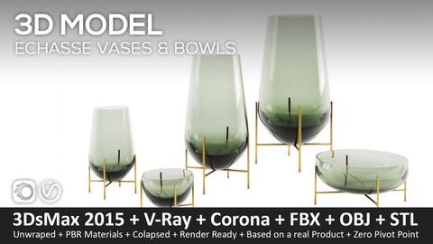 Echasse Vases & Bowls – Theresa Rand . 3D-Model (3ds Max 2016 (Vray and Corona) + fbx + obj + STL)