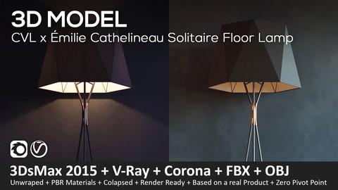 CVL Luminaires Solitaire Floor Lamp + 3D Model (3DsMax 2016, Vray, Corona, FBX, Obj)