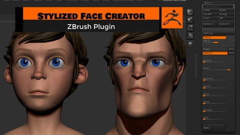 Stylized Face Creator - ZBrush Plugin
