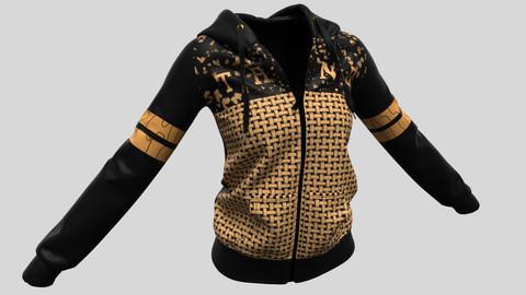 Ladies Hoodie Black 2.0 in Marvelous Designer