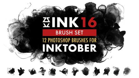 INK 16 Brush Set for Inktober 2020