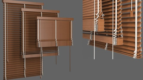 Set Blinds Wooden 1