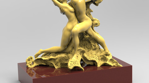 Eternal Springtime Lovers Embrace Eternal Kiss by Rodin - 033