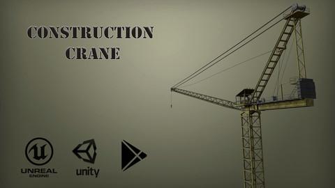 Construction Crane Low-poly 3D model