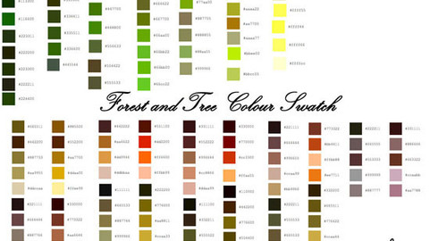 Forest and Tree Color Palette for Clip Studio Paint and Ex
