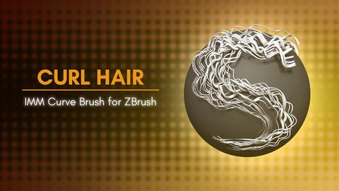 [IMM Brush] Curls Hair IMM Curve Brush for Zbrush 2021