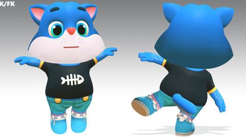 Cat Kitten Animated Rigged