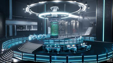 Sci-Fi Laboratory Scene - Unreal Engine 4