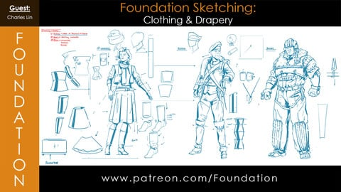 Foundation Art Group: Foundation Sketching - Clothing and Drapery with Charles Lin
