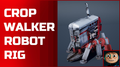 Crop Walker Robot Rig