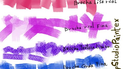 Brochas Planas Pintura al Oleo- Clip Studio Paint