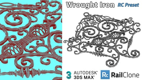 Hemase Wrought Iron Rail Clone Preset