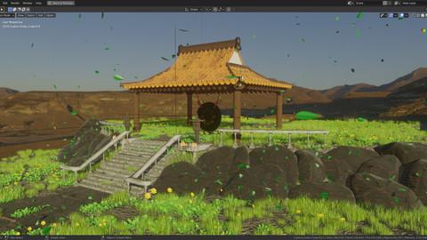 Chinese Bongo Bell Scene - Unity 3D ready