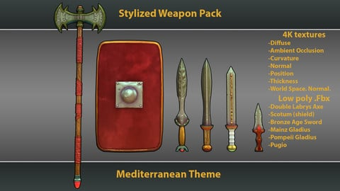 Stylized Mediterranean Weapons