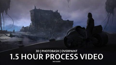 Cyberpunk Cityscape - Process Video Demo