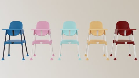 Highchair 3D Model