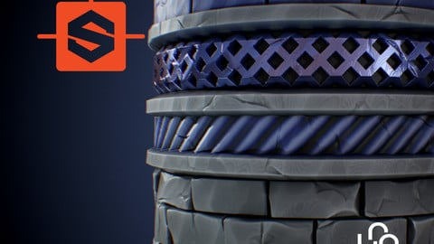 Stylized Trim Textures - Substance Designer