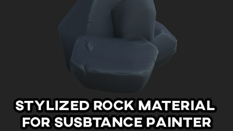 Stylized Rock material for substance paint