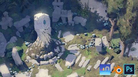 Intro to VR / Full Process for Environment Design [Adobe Medium+Blender]