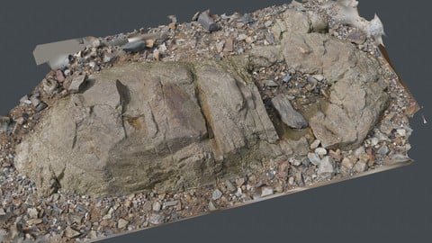 Photoscan_Beach Rock_0074_only HighPoly Mesh (16K Texture)