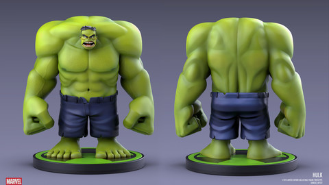 Hulk statue
