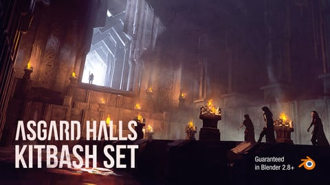 Asgard Halls KitBash Set For Concept Art