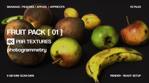 Fruit pack | 24 assets | PBR photogrammetry