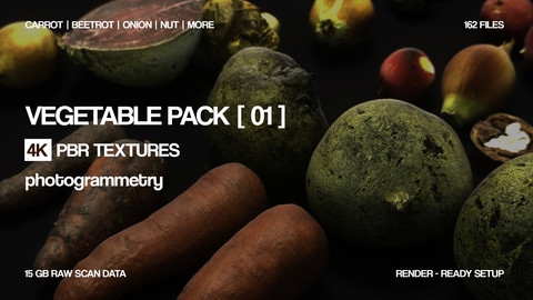 Vegetable pack | lowpoly assets | PBR Photogrammetry