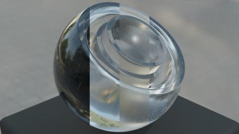 Scratched Glass (Blender, Procedural)