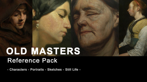 Old Masters Paintings and Sketches for Character Art (240+ 4K historical images)