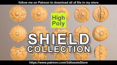 Weapon - Shield Collection High Poly