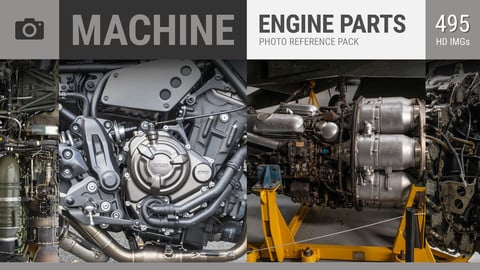 MACHINE Engine Parts Photo Reference Pack