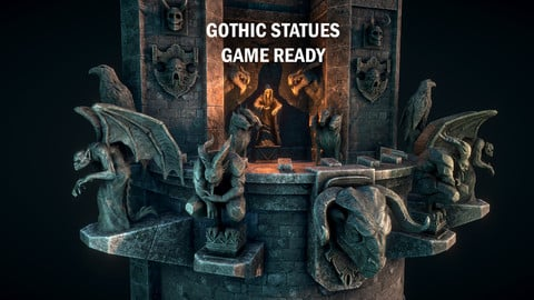 Gothic statues
