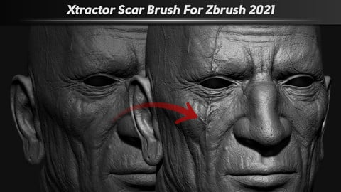 Xtractor Scar Brush For Zbrush 2021