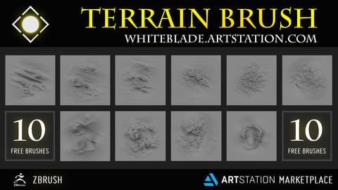 45 TERRAIN BRUSHES AND HEIGHTMAPS - FREE