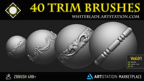 TRIM ORNAMENT BRUSHES VOL 01