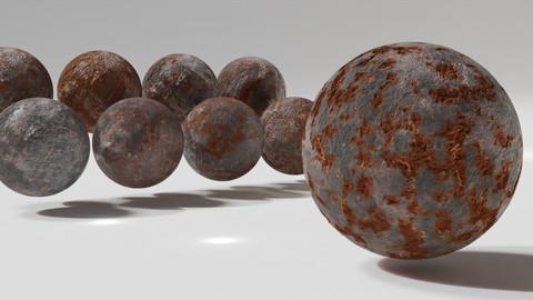 Rusted Metal Material