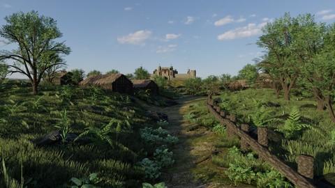 Path to Castle Scene
