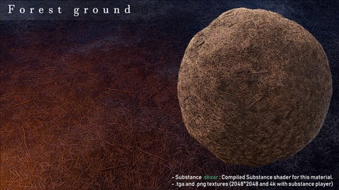 Forest ground texture (.sbar, 2k tga & png textures)