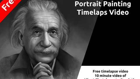 Time lapse video (Portrait Painting) - Free