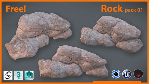 Free Polygon!!! Rock Pack_01