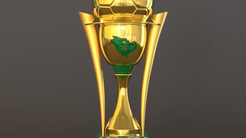 King of Saudi Arabia cup 3D model | كأس خادم الحرمين الشريفين ثلاثي الابعاد