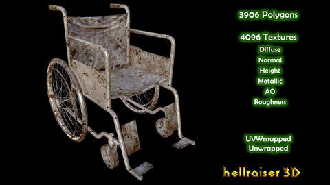 Wheelchair - PBR - Old Textured